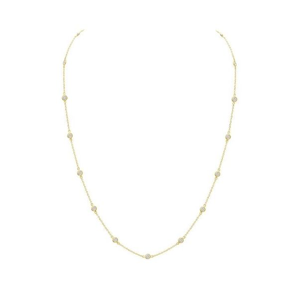 Bezel Diamond by the Yard Necklace Carter's Jewelry, Inc. Petal, MS