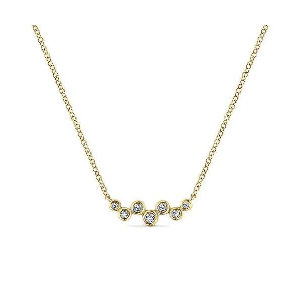 Abstract Diamond Bezel Bar Necklace Carter's Jewelry, Inc. Petal, MS