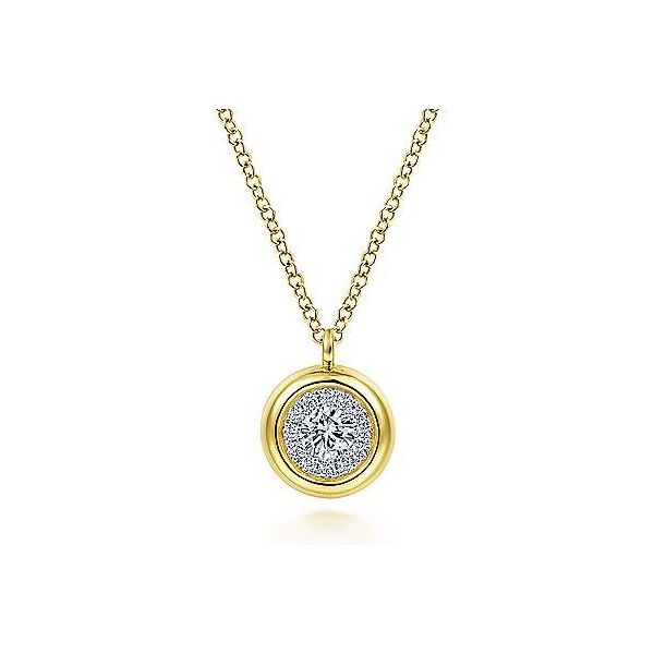 Bezel Diamond Halo Necklace Carter's Jewelry, Inc. Petal, MS