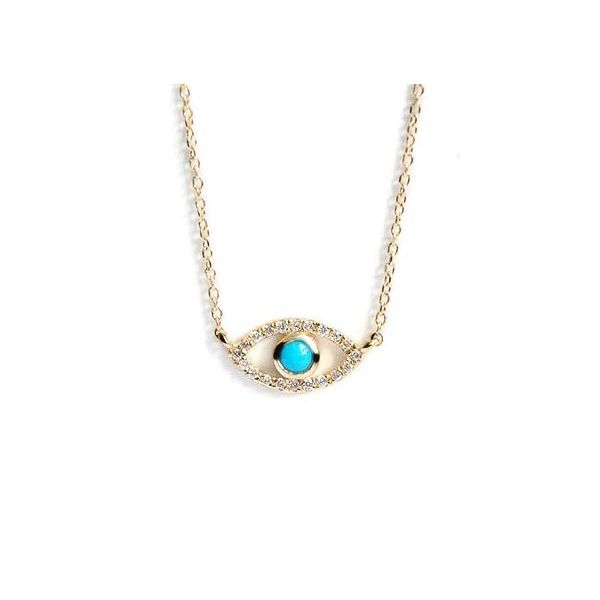 Turquoise Evil Eye Necklace Carter's Jewelry, Inc. Petal, MS