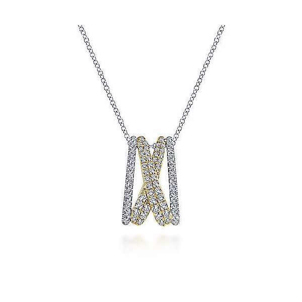 Criss Cross Diamond Pendant Necklace Carter's Jewelry, Inc. Petal, MS