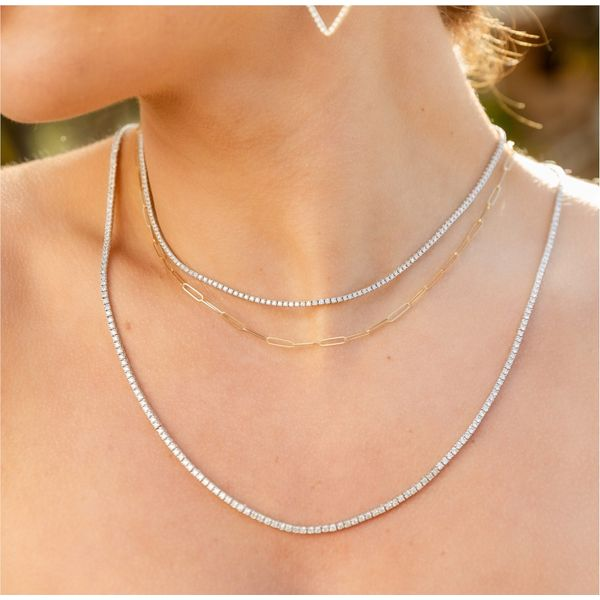 Diamond Tennis Necklace Carter's Jewelry, Inc. Petal, MS