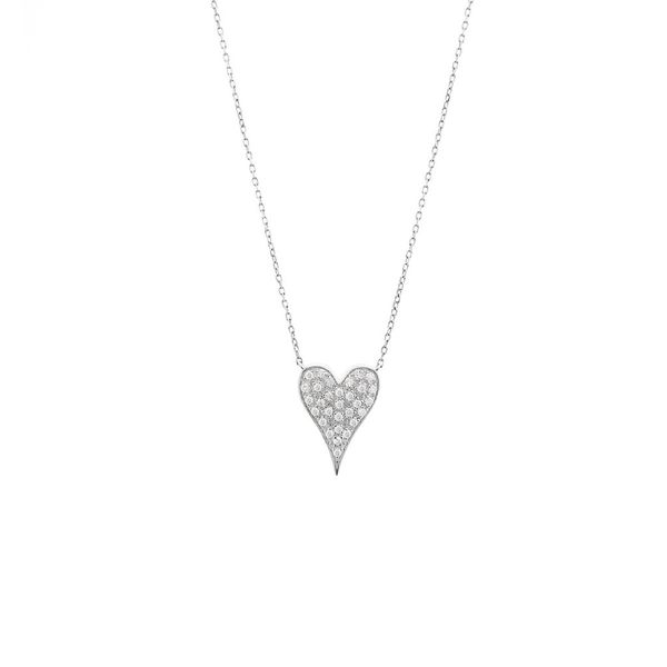 Pave Diamond Heart Necklace Carter's Jewelry, Inc. Petal, MS