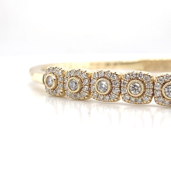 Bezel Diamond & Cushion Halo Bangle  Image 2 Carter's Jewelry, Inc. Petal, MS