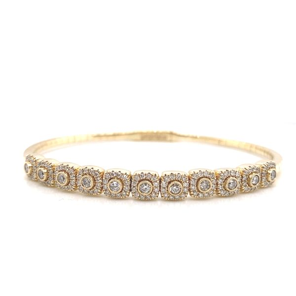Bezel Diamond & Cushion Halo Bangle  Carter's Jewelry, Inc. Petal, MS