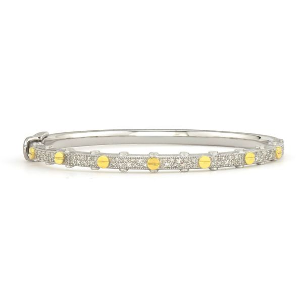 Two Toned Pave Diamond Nail Head Bangle Carter's Jewelry, Inc. Petal, MS
