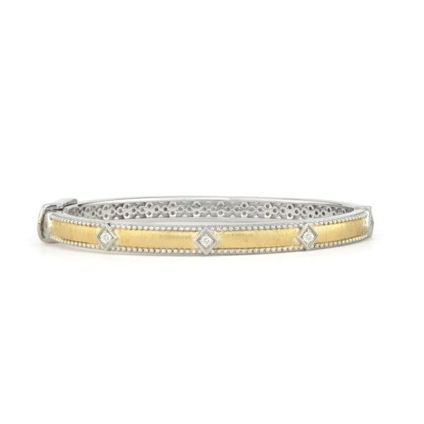 Two Toned Simple Diamond Kite Bangle Carter's Jewelry, Inc. Petal, MS