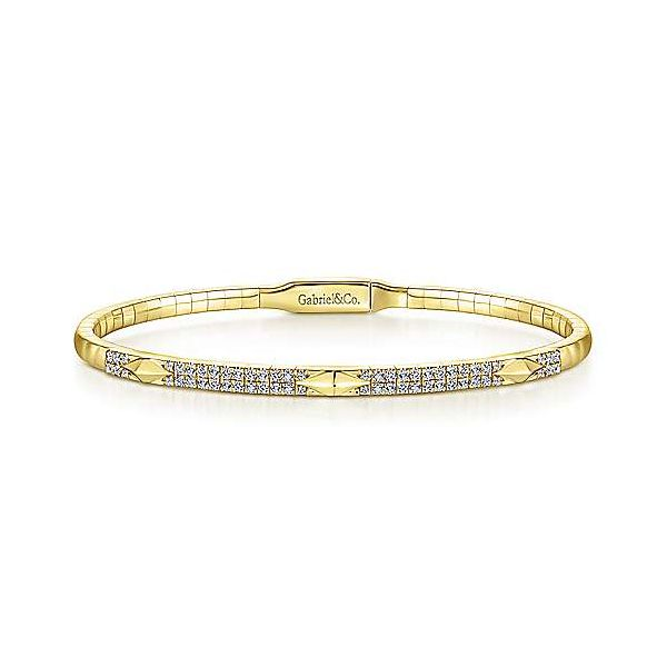 Diamond Double Row Pyramid Station Bangle Carter's Jewelry, Inc. Petal, MS