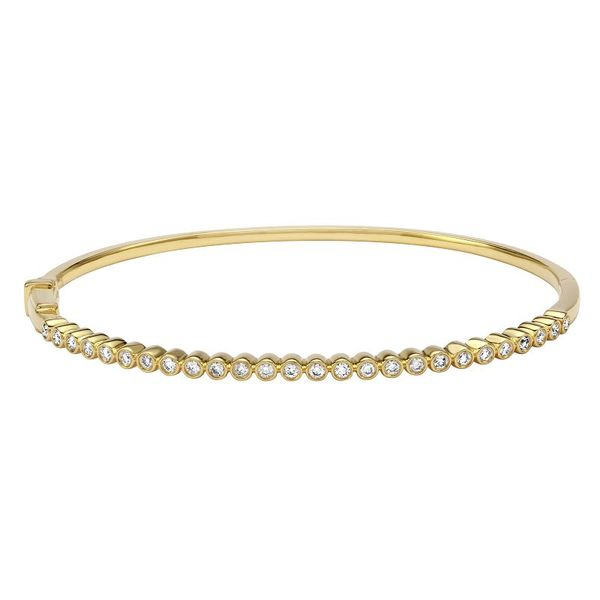 Petite Diamond Bezel Bangle Carter's Jewelry, Inc. Petal, MS