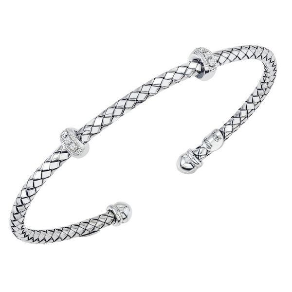 Sterling Silver Traversa Double Diamond Rondelle Station Bracelet Carter's Jewelry, Inc. Petal, MS