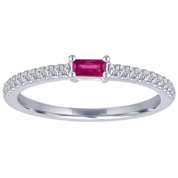 The Julia Ruby Baguette Stackable Carter's Jewelry, Inc. Petal, MS
