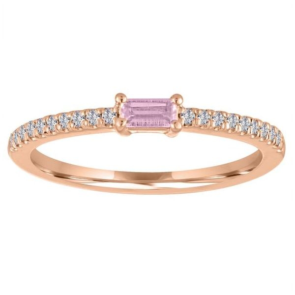 The Julia Pink Tourmaline Baguette Stackable Carter's Jewelry, Inc. Petal, MS