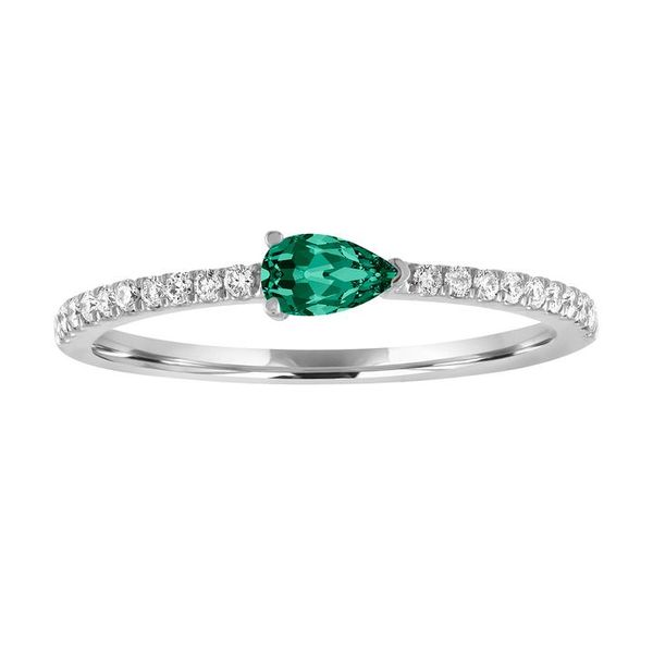 The Layla Gemstone Stackable White Gold Carter's Jewelry, Inc. Petal, MS