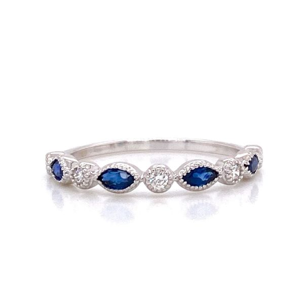 The Penelope Sapphire and Diamond Stackable Carter's Jewelry, Inc. Petal, MS