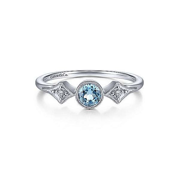 Blue Topaz Vintage Style Fashion Ring Carter's Jewelry, Inc. Petal, MS