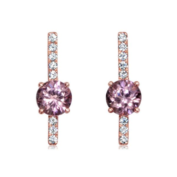 Lotus Garnet Diamond Drop Earrings Carter's Jewelry, Inc. Petal, MS