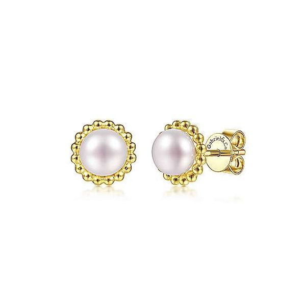 Bujukan Bead Freshwater Pearl Stud Earrings Carter's Jewelry, Inc. Petal, MS