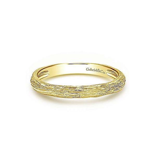 Gold Brushed Textured Stackable Ring Carter's Jewelry, Inc. Petal, MS