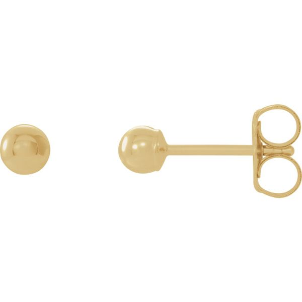 Gold Ball Studs, 4mm Carter's Jewelry, Inc. Petal, MS