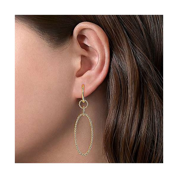 Bujukan Oval Drop Earrings Image 2 Carter's Jewelry, Inc. Petal, MS