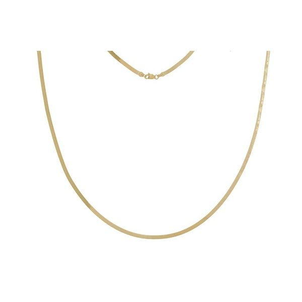 Petite Herringbone Necklace Carter's Jewelry, Inc. Petal, MS