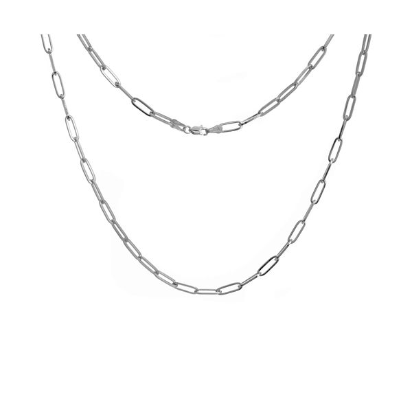 Sterling Silver Paperclip Chain Carter's Jewelry, Inc. Petal, MS