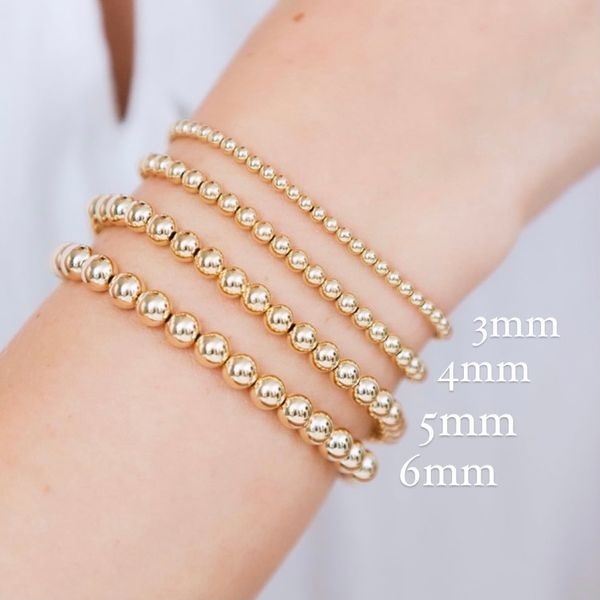 6mm Gold Filled Bead Bracelet Image 2 Carter's Jewelry, Inc. Petal, MS