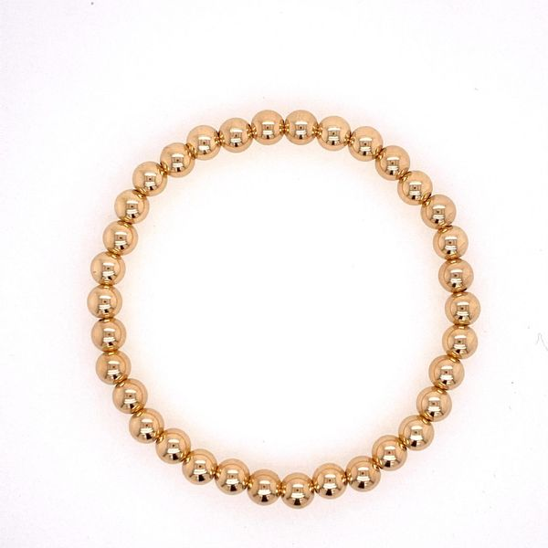 5mm Gold Filled Bead Bracelet Carter's Jewelry, Inc. Petal, MS