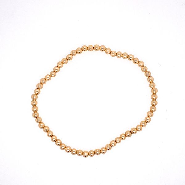 3mm Gold Filled Bead Bracelet Carter's Jewelry, Inc. Petal, MS