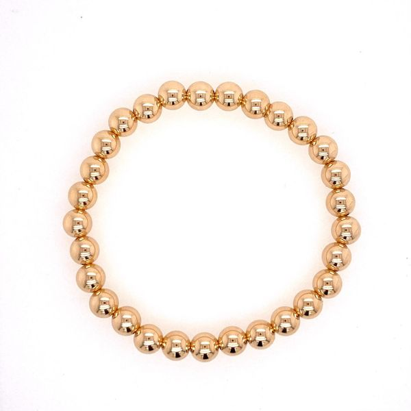 6mm Gold Filled Bead Bracelet Carter's Jewelry, Inc. Petal, MS