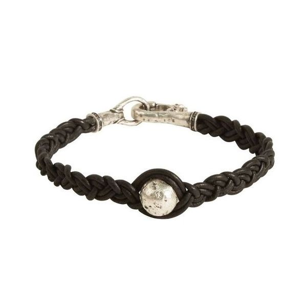 Braided Leather Sterling Silver Bead Bracelet Carter's Jewelry, Inc. Petal, MS