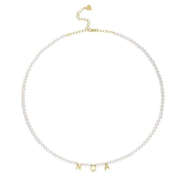 Pearl Letter Necklace in Letter M Carter's Jewelry, Inc. Petal, MS