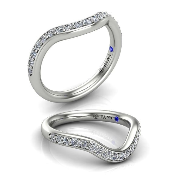 Curved Diamond Wedding Bands Image 2 Champaign Jewelers Champaign, IL
