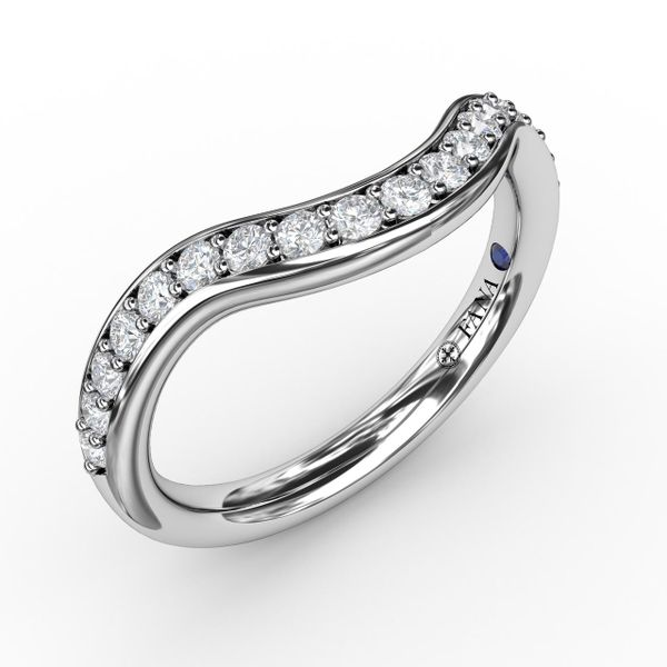 Curved Diamond Wedding Bands Champaign Jewelers Champaign, IL