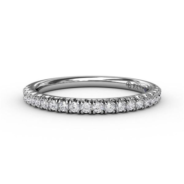 14K White Gold 0.27tw Diamond Wedding Band Champaign Jewelers Champaign, IL