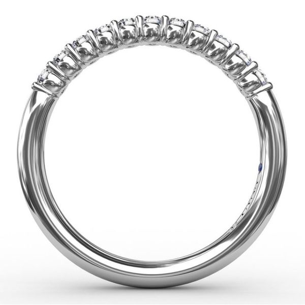 14K White Gold 0.27tw Diamond Wedding Band Image 2 Champaign Jewelers Champaign, IL