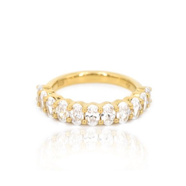 14 Karat Yellow Gold Oval 4.03tcw Diamond Wedding Band Champaign Jewelers Champaign, IL