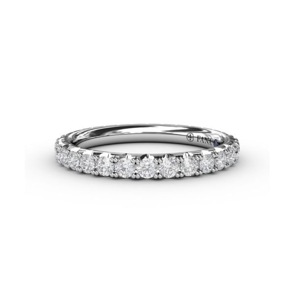 14K White Gold 0.95tw Diamond Eternity Wedding Band Champaign Jewelers Champaign, IL