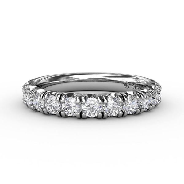 14K White Gold 0.89tw Diamond Wedding Band Champaign Jewelers Champaign, IL