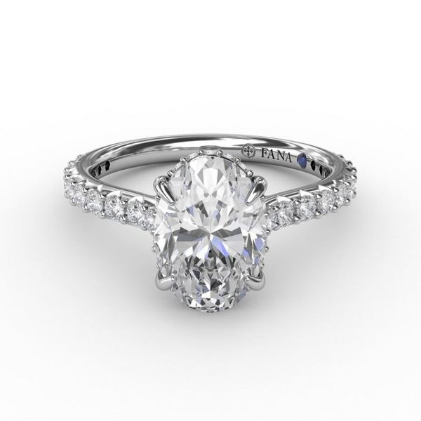 14 Karat White Gold Diamond Engagement Semi-Mount Ring Image 2 Champaign Jewelers Champaign, IL