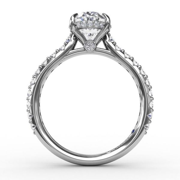 14 Karat White Gold Diamond Engagement Semi-Mount Ring Image 3 Champaign Jewelers Champaign, IL