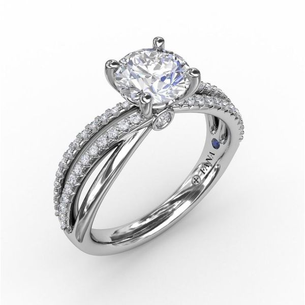 14K Diamond Layered Bands Engagement Ring Semi-Mount Champaign Jewelers Champaign, IL