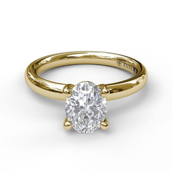 14K Yellow Gold Oval Solitaire Engagement Ring Mounting Image 2 Champaign Jewelers Champaign, IL