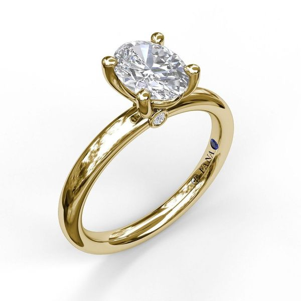 14K Yellow Gold Oval Solitaire Engagement Ring Mounting Champaign Jewelers Champaign, IL