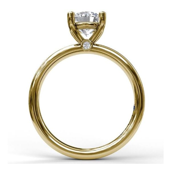 14K Yellow Gold Solitaire Engagement Ring Mounting Image 2 Champaign Jewelers Champaign, IL