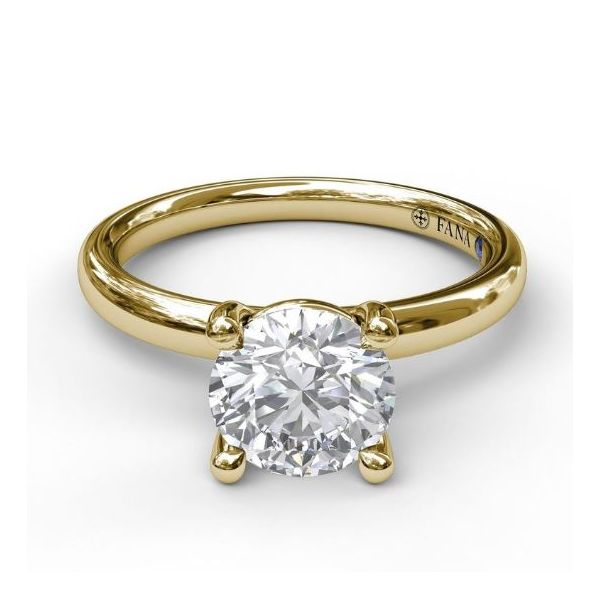 14K Yellow Gold Solitaire Engagement Ring Mounting Image 3 Champaign Jewelers Champaign, IL