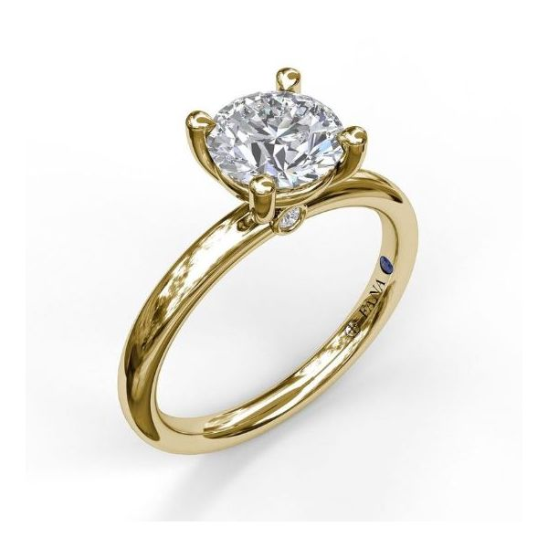 14K Yellow Gold Solitaire Engagement Ring Mounting Champaign Jewelers Champaign, IL