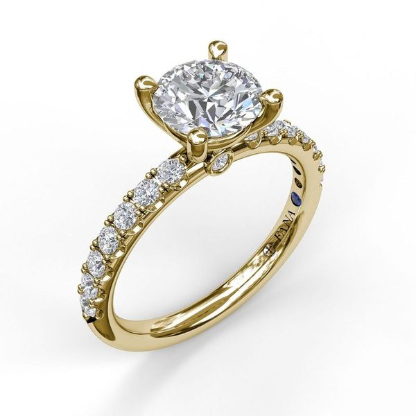 14K Yellow Gold Diamond Engagement Ring Mounting Champaign Jewelers Champaign, IL
