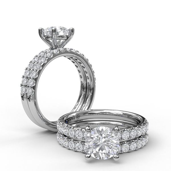 14K Shared Prong Diamond Semi Mount Engagement Ring Image 2 Champaign Jewelers Champaign, IL