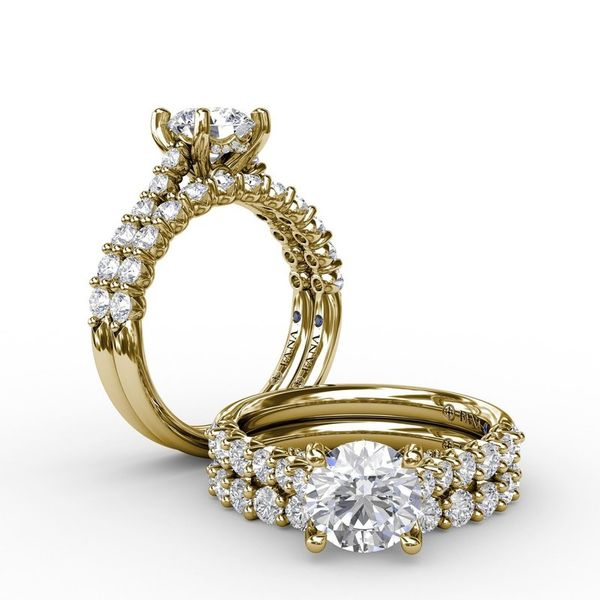 14K Yellow Gold Diamond Engagement Ring Mounting Image 2 Champaign Jewelers Champaign, IL